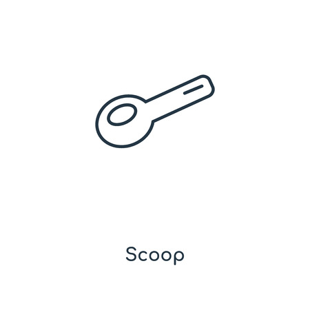 Scoop concept line icon. Linear Scoop concept outline symbol design. This simple element illustration can be used for web and mobile UIUX.