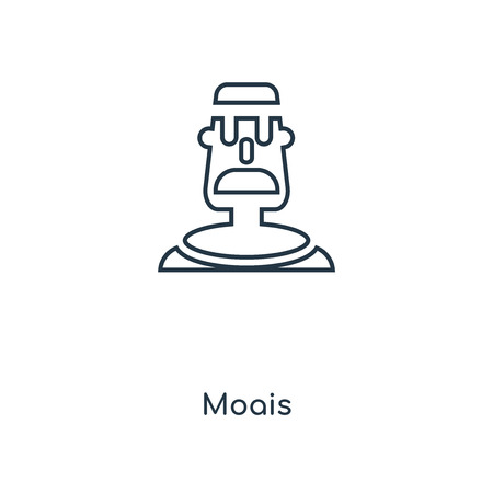 Moais concept line icon. Linear Moais concept outline symbol design. This simple element illustration can be used for web and mobile UI/UX.
