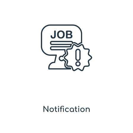 Notification concept line icon. Linear Notification concept outline symbol design. This simple element illustration can be used for web and mobile UI/UX. Stock Illustratie