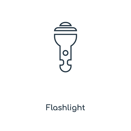 Flashlight concept line icon. Linear Flashlight concept outline symbol design. This simple element illustration can be used for web and mobile UI/UX.