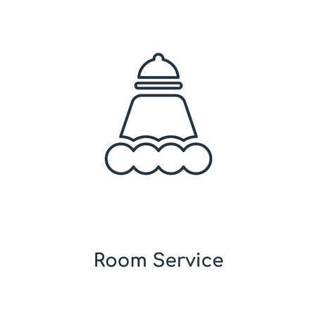 Room Service concept line icon. Linear Room Service concept outline symbol design. This simple element illustration can be used for web and mobile UIUX. Illustration
