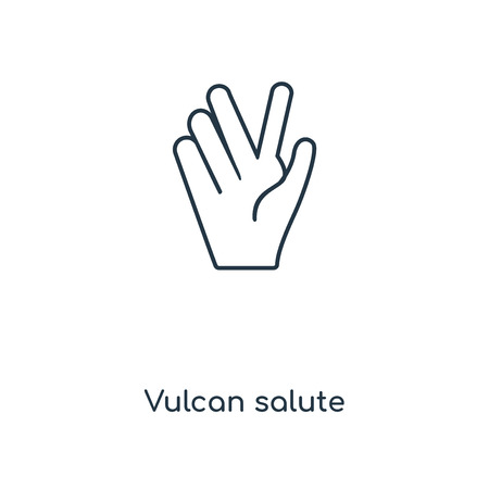 Vulcan salute concept line icon. Linear Vulcan salute concept outline symbol design. This simple element illustration can be used for web and mobile UIUX. Illustration