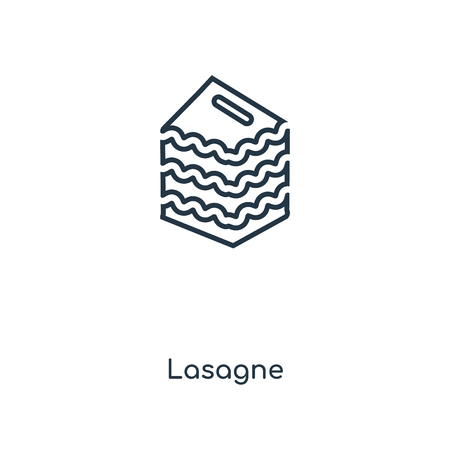 Lasagne concept line icon. Linear Lasagne concept outline symbol design. This simple element illustration can be used for web and mobile UI/UX.