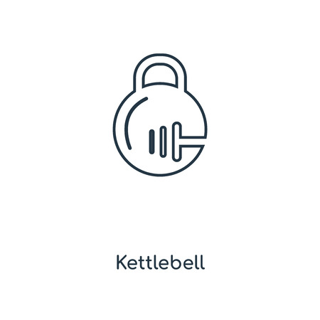 Kettlebell concept line icon. Linear Kettlebell concept outline symbol design. This simple element illustration can be used for web and mobile UI/UX. Illustration