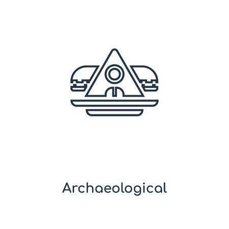Archaeological concept line icon. Linear Archaeological concept outline symbol design. This simple element illustration can be used for web and mobile UI/UX. 版權商用圖片 - 111328339