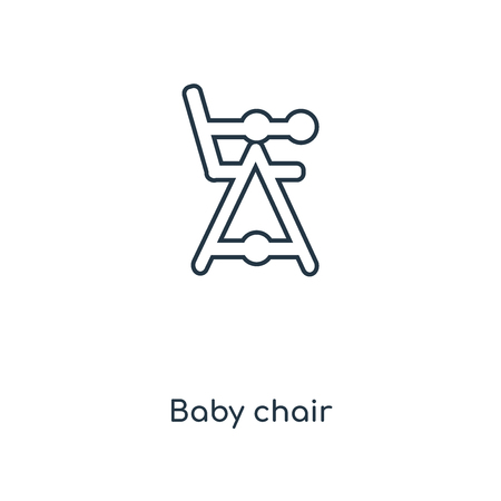 Baby chair concept line icon. Linear Baby chair concept outline symbol design. This simple element illustration can be used for web and mobile UI/UX. Vector Illustration