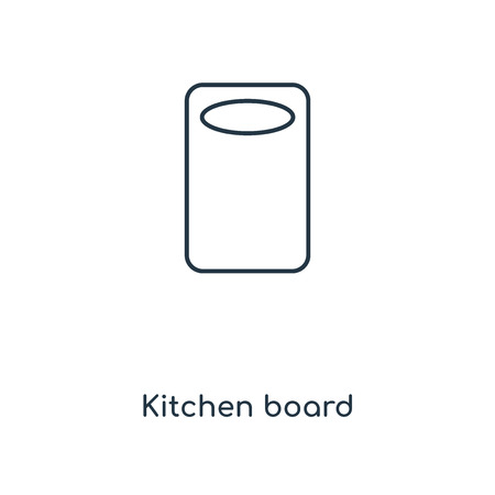 Kitchen board concept line icon. Linear Kitchen board concept outline symbol design. This simple element illustration can be used for web and mobile UI/UX.  イラスト・ベクター素材