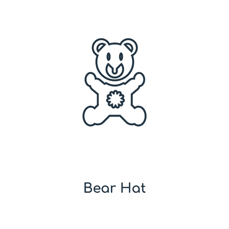 Bear Hat concept line icon. Linear Bear Hat concept outline symbol design. This simple element illustration can be used for web and mobile UI/UX.