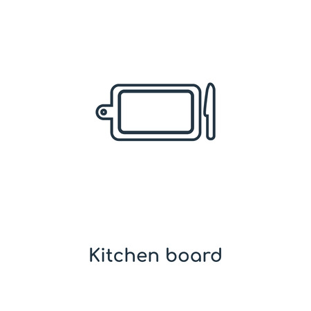 Kitchen board concept line icon. Linear Kitchen board concept outline symbol design. This simple element illustration can be used for web and mobile UI/UX. 版權商用圖片 - 113548696
