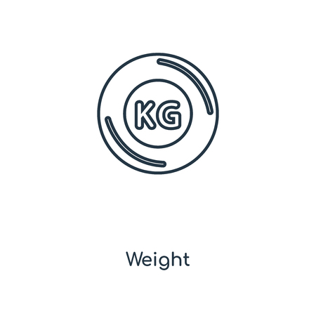 Weight concept line icon. Linear Weight concept outline symbol design. This simple element illustration can be used for web and mobile UI/UX. Vectores