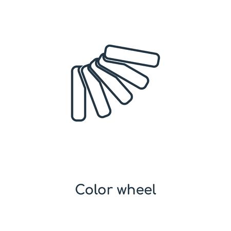Color Wheel Concept Line Icon Linear Color Wheel Concept Outline
