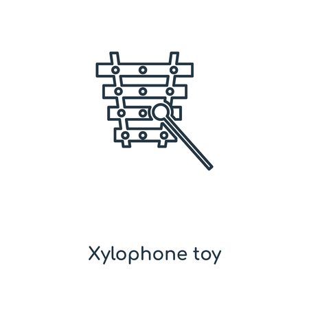 Xylophone toy concept line icon. Linear Xylophone toy concept outline symbol design. This simple element illustration can be used for web and mobile UI/UX.