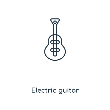 Electric guitar concept line icon. Linear Electric guitar concept outline symbol design. This simple element illustration can be used for web and mobile UI/UX.