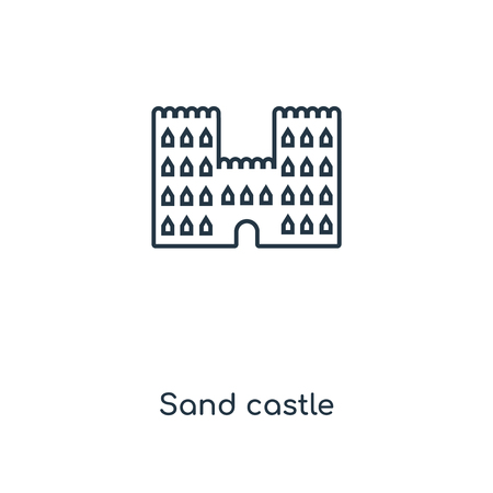Sand castle concept line icon. Linear Sand castle concept outline symbol design. This simple element illustration can be used for web and mobile UI/UX.