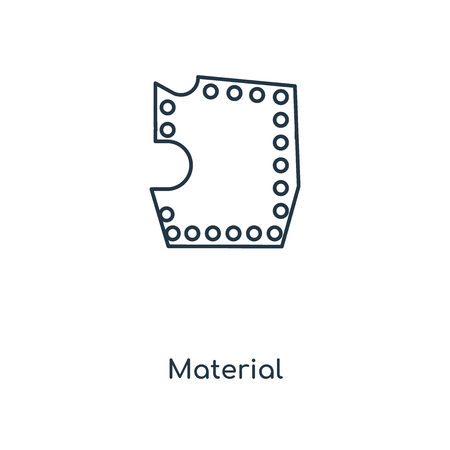 Material concept line icon. Linear Material concept outline symbol design. This simple element illustration can be used for web and mobile UI/UX.