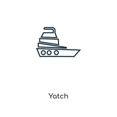 Yatch concept line icon. Linear Yatch concept outline symbol design. This simple element illustration can be used for web and mobile UI/UX. Vettoriali