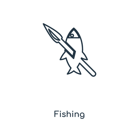 Fishing concept line icon. Linear Fishing concept outline symbol design. This simple element illustration can be used for web and mobile UI/UX.