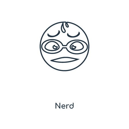 Nerd concept line icon. Linear Nerd concept outline symbol design. This simple element illustration can be used for web and mobile UIUX.