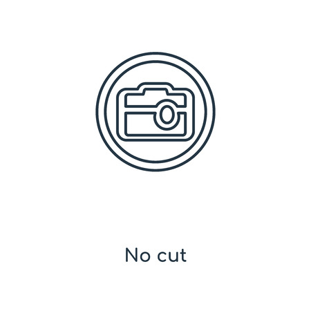 No cut concept line icon. Linear No cut concept outline symbol design. This simple element illustration can be used for web and mobile UI/UX. 일러스트