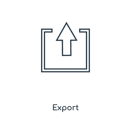 Export concept line icon. Linear Export concept outline symbol design. This simple element illustration can be used for web and mobile UI/UX.