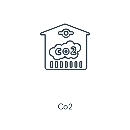Co2 concept line icon. Linear Co2 concept outline symbol design. This simple element illustration can be used for web and mobile UI/UX.