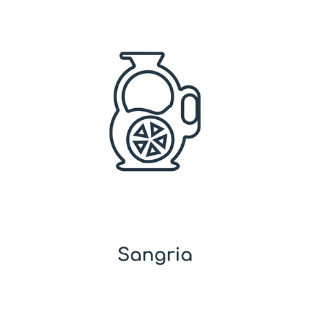 Sangria concept line icon. Linear Sangria concept outline symbol design. This simple element illustration can be used for web and mobile UI/UX.
