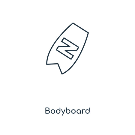 Bodyboard concept line icon. Linear Bodyboard concept outline symbol design. This simple element illustration can be used for web and mobile UIUX.