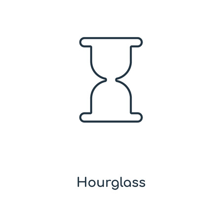 Hourglass concept line icon. Linear Hourglass concept outline symbol design. This simple element illustration can be used for web and mobile UIUX. Illustration