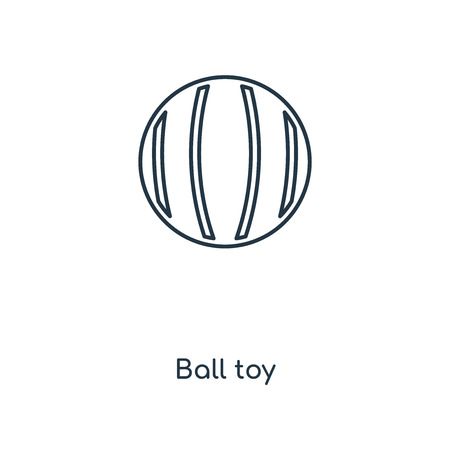 Ball toy concept line icon. Linear Ball toy concept outline symbol design. This simple element illustration can be used for web and mobile UI/UX.