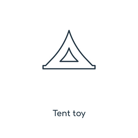 Tent toy concept line icon. Linear Tent toy concept outline symbol design. This simple element illustration can be used for web and mobile UI/UX. Ilustração