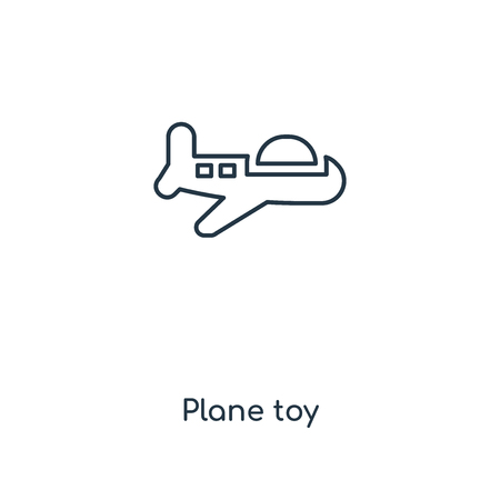 Plane toy concept line icon. Linear Plane toy concept outline symbol design. This simple element illustration can be used for web and mobile UI/UX.