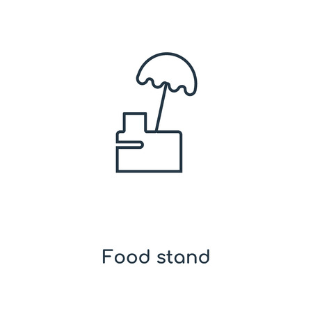 Food stand concept line icon. Linear Food stand concept outline symbol design. This simple element illustration can be used for web and mobile UI/UX.