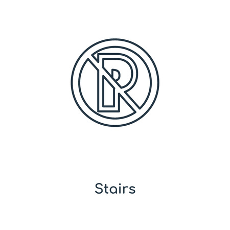 Stairs concept line icon. Linear Stairs concept outline symbol design. This simple element illustration can be used for web and mobile UI/UX.