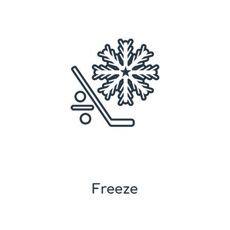 Konzept Symbol Leitung einfrieren. Lineares Freeze-Konzept-Umrisssymbol-Design. Diese einfache Elementillustration kann für Web- und mobile UI/UX verwendet werden. Vektorgrafik