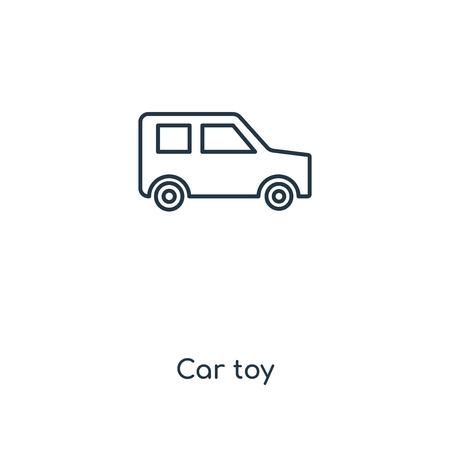 Car toy concept line icon. Linear Car toy concept outline symbol design. This simple element illustration can be used for web and mobile UI/UX.