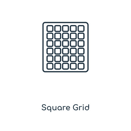 Square Grid concept line icon. Linear Square Grid concept outline symbol design. This simple element illustration can be used for web and mobile UIUX.