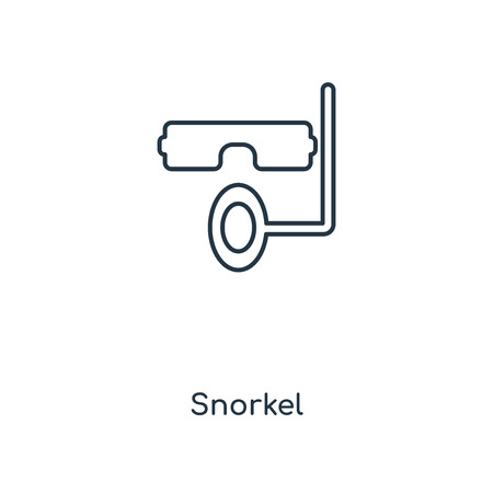 Snorkel concept line icon. Linear Snorkel concept outline symbol design. This simple element illustration can be used for web and mobile UI/UX. Illustration