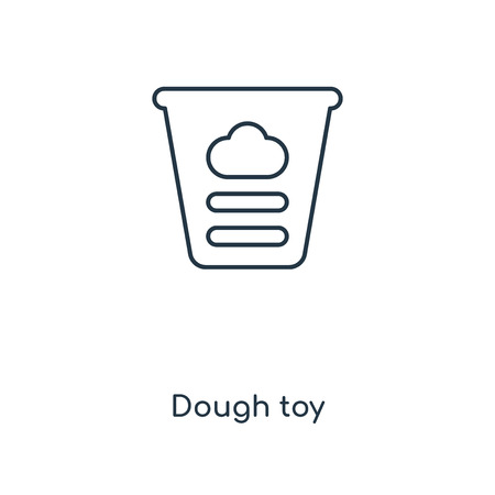 Dough toy concept line icon. Linear Dough toy concept outline symbol design. This simple element illustration can be used for web and mobile UI/UX.