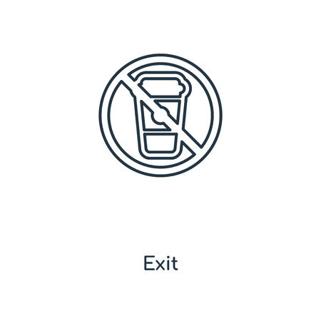 Exit concept line icon. Linear Exit concept outline symbol design. This simple element illustration can be used for web and mobile UI/UX.