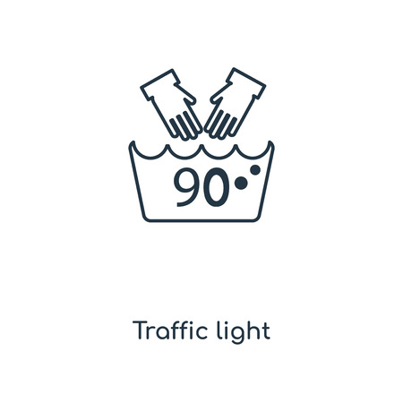 Traffic light concept line icon. Linear Traffic light concept outline symbol design. This simple element illustration can be used for web and mobile UI/UX.