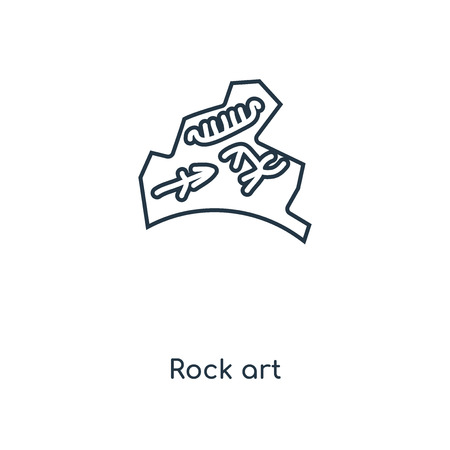 Rock art concept line icon. Linear Rock art concept outline symbol design. This simple element illustration can be used for web and mobile UIUX.
