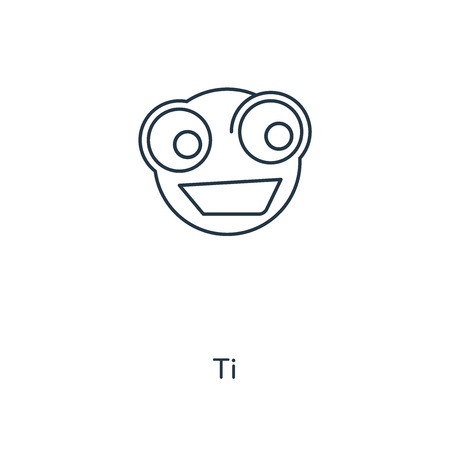 Tired concept line icon. Linear Tired concept outline symbol design. This simple element illustration can be used for web and mobile UI/UX.