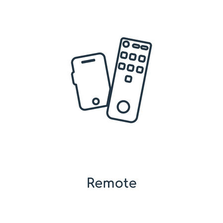 Remote concept line icon. Linear Remote concept outline symbol design. This simple element illustration can be used for web and mobile UI/UX. Stock Illustratie