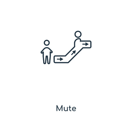 Mute concept line icon. Linear Mute concept outline symbol design. This simple element illustration can be used for web and mobile UIUX.