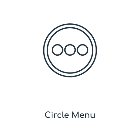 Circle Menu concept line icon. Linear Circle Menu concept outline symbol design. This simple element illustration can be used for web and mobile UIUX.  イラスト・ベクター素材