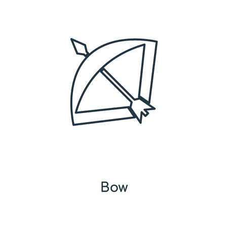 Bow concept line icon. Linear Bow concept outline symbol design. This simple element illustration can be used for web and mobile UI/UX. Illustration