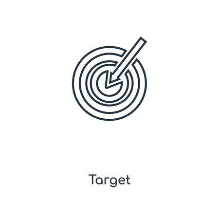 Target concept line icon. Linear Target concept outline symbol design. This simple element illustration can be used for web and mobile UIUX.