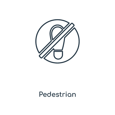 Pedestrian concept line icon. Linear Pedestrian concept outline symbol design. This simple element illustration can be used for web and mobile UI/UX.
