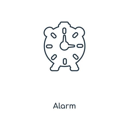 Alarm concept line icon. Linear Alarm concept outline symbol design. This simple element illustration can be used for web and mobile UIUX. Ilustração