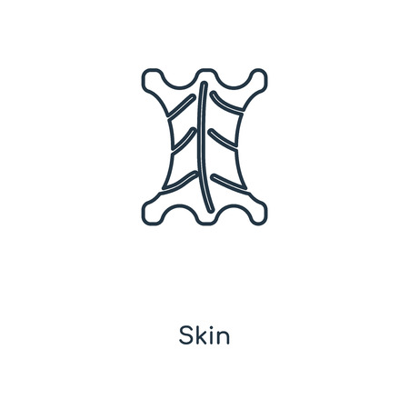 Skin concept line icon. Linear Skin concept outline symbol design. This simple element illustration can be used for web and mobile UI/UX.